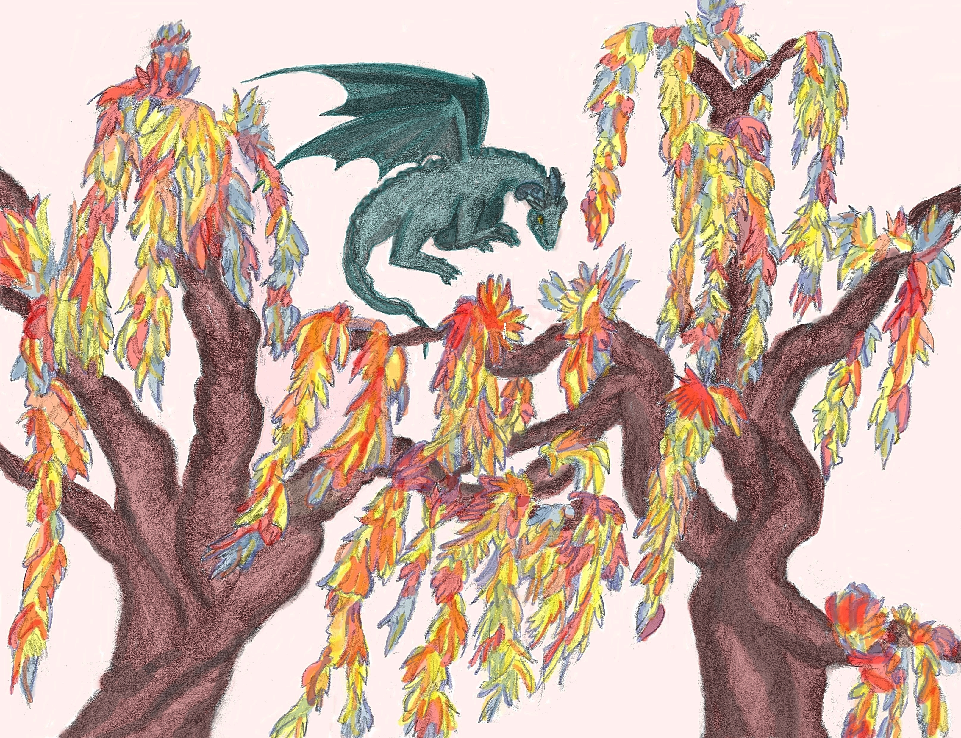 18. Dragon in Extrordinarium color.0 amended background